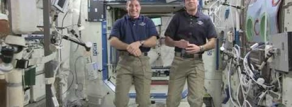 Space station astronauts talk about life in space
