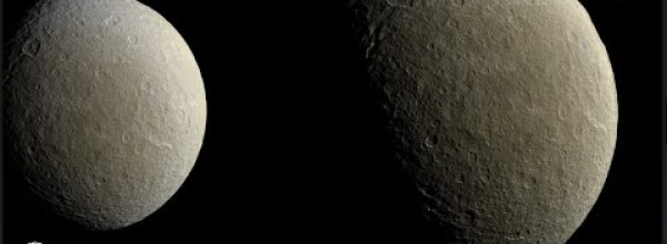 New Cassini's images of Saturn's second largest moon, Rhea, is released