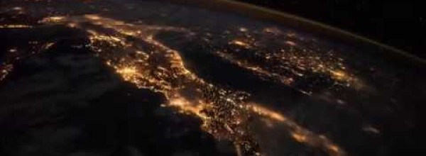 Nights in Europe Seen From Space