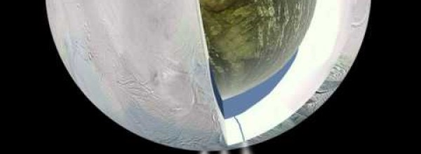 Saturn's Moon, Enceladus, Spews Water from a Geyser-Like Plume