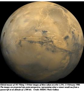 Mars - Image from Viking 1 Orbiter