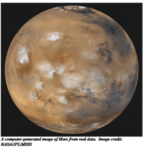 Mars - computer generated image from real data